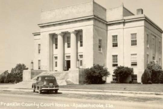 Franklin County Florida Courthouse Circa 1940